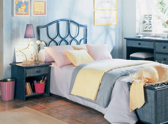 Chambre rotin magasin au brin d 39 osier vente de meubles en rotin brest finist re bretagne - Chambre bleu fonce ...