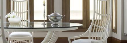 Salles a manger rotin magasin au brin d 39 osier vente de for Table en verre ovale avec rallonge